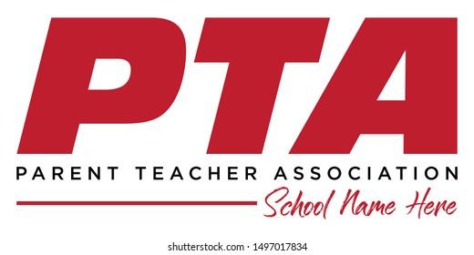 PTA Shirt  / PTA Logo Design, Parent Teacher Association Symbol, Vector T-Shirt Illustration, Screen Print Template for Tees, Print Ready Illustration, School Organization Assets, Banner Graphic