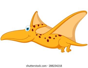 Pterodactyl dinosaur cartoon