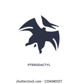 pterodactyl icon. Simple element illustration from stone age concept. pterodactyl editable symbol design on white background. Can be use for web and mobile.