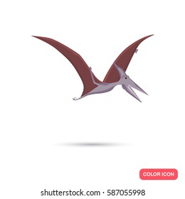 Pterosaur color flat icon for web and mobile design
