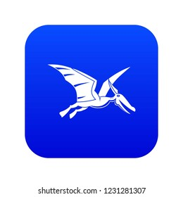 Pterosaurs dinosaur icon digital blue for any design isolated on white vector illustration