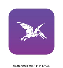Pterosaurs dinosaur icon digital purple for any design isolated on white vector illustration