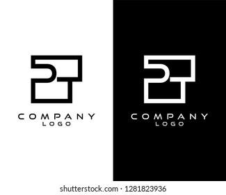 pt/tp Letters Logo Design. Simple and Creative Letter Concept Illustration vector