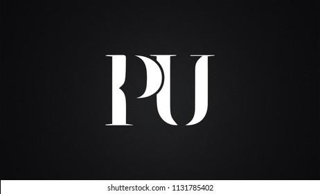 PU Letter Logo Design Template Vector
