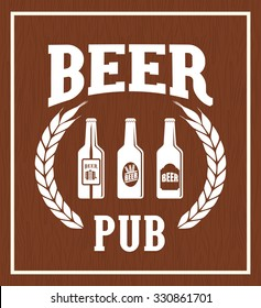 Pub beer and alcohol advert design, vector illustration eps10