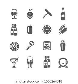 Pub and drink Icons set
