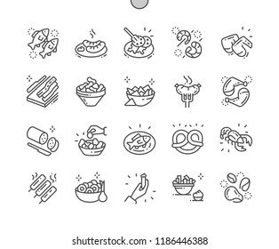 Pub food Well-crafted Pixel Perfect Vector Thin Line Icons 30 2x Grid for Web Graphics and Apps. Simple Minimal Pictogram