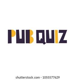 Pub quiz. Vector illustration on white background.