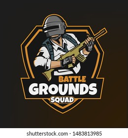 PUBG logo template, vector illustration, with file eps10