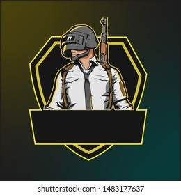 Pubg logo tournament, logo mascot design, vector illustration