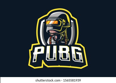 PUBG mascot logo isolated on dark background