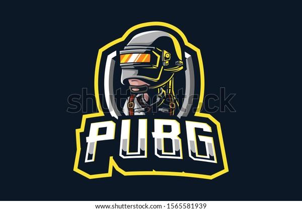 PUBG mascot logo isolated on dark background
