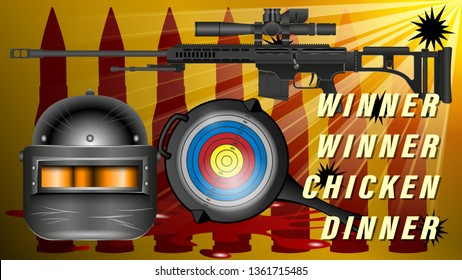 Pubg Playerunknowns Battlegrounds Game Pan With The Target And An Armored Helmet Black With