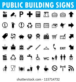 Public building signs Vector
