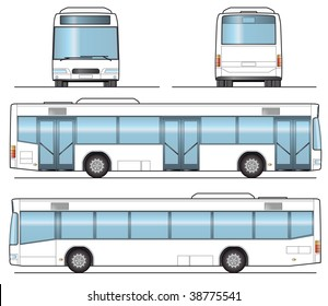Public Bus Template - layout for presentation