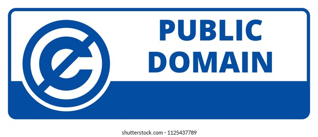 Public Domain License illustration Editorial