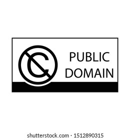 Public Domain Mark sign.  C crossed out sign