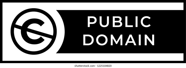 Public domain sign with crossed out C letter icon in a circle.