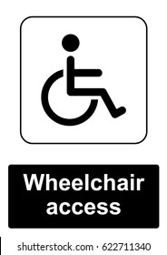 Public Information Sign isolated on a white background -  Wheelchair access