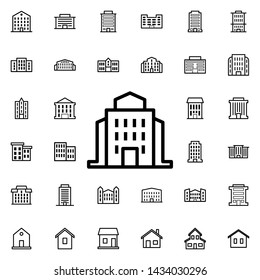 Public institution icon. Universal set of buildings for website design and development, app development