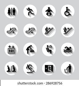 Public men signs vector set