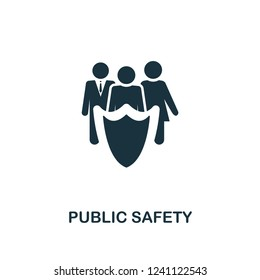Public Safety icon. Premium style design from urbanism collection. UX and UI. Pixel perfect public safety icon for web design, apps, software, printing usage.