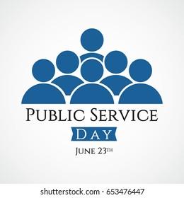 Public Service Day Logo Vector Template