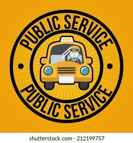 public service over orange background vector illustration