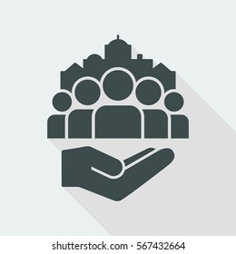 Public services for citizens - Vector icon