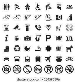 Public signs vector set