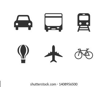 Public transport, shuttle, traffic, transport, transportation icon. Vector illustration, flat design.