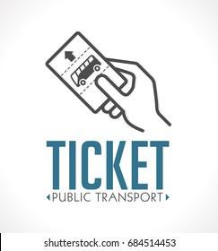 Public transport ticket logo - bus