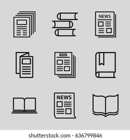 Publication icons set.
