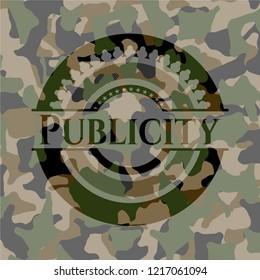 Publicity camouflaged emblem