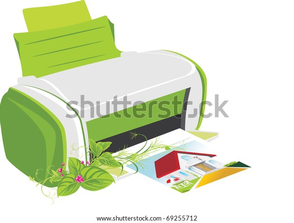 publishing-printer-spring-bouquet-vector