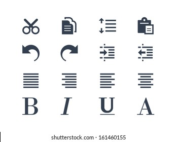 Publishing and text editing icons