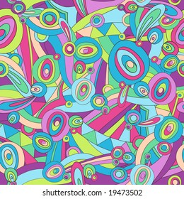 Pucci Abstract Seamless Repeat Pattern Vector Illustration