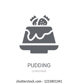 Pudding icon. Trendy Pudding logo concept on white background from Christmas collection. Suitable for use on web apps, mobile apps and print media.