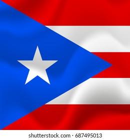Puerto Rico flag background. Vector illustration.