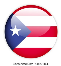 Puerto Rico flag button on white