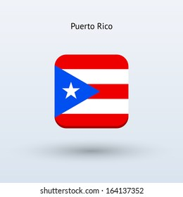 Puerto Rico flag icon. Vector illustration.