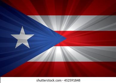 Puerto Rico flag vector illustration.