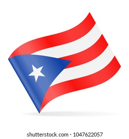 Puerto Rico Flag Vector Waving Icon - Illustration