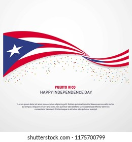 Puerto Rico Happy independence day Background