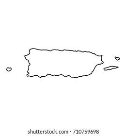 Puerto Rico Outline Images Stock Photos Vectors