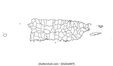 Vector United States Map Puerto Rico Images Stock Photos
