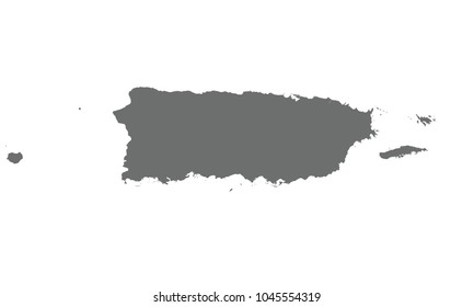 Puerto Rico map gray color