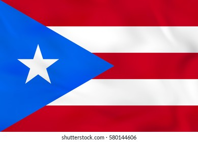 Puerto Rico waving flag. Puerto Rico national flag background texture. Vector illustration.