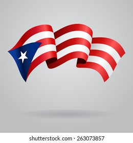 Puerto Rico waving Flag. Vector illustration Eps 8.