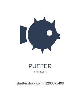 Puffer icon. Trendy flat vector Puffer icon on white background from animals collection, vector illustration can be use for web and mobile, eps10